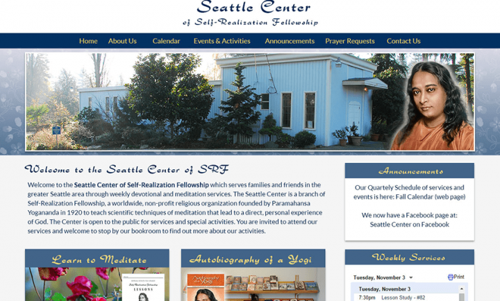 SRF Seattle Center - Responsive Web Design and Development