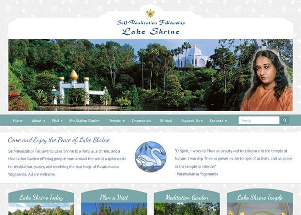 Self-Realization Fellowship Lake Shrine - Website Re-design