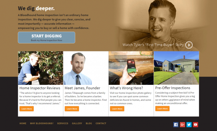 Bloodhound Home Inspectors - Responsive Web Design and Development