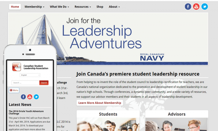 Canadian Student Leadership - Responsive WordPress Web Design and Development