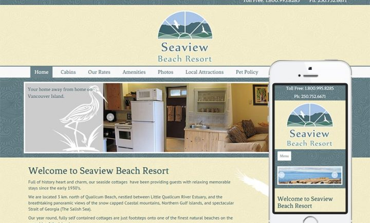 Seaview Beach Resort - Web Design and Mobile Friendly WordPress Development