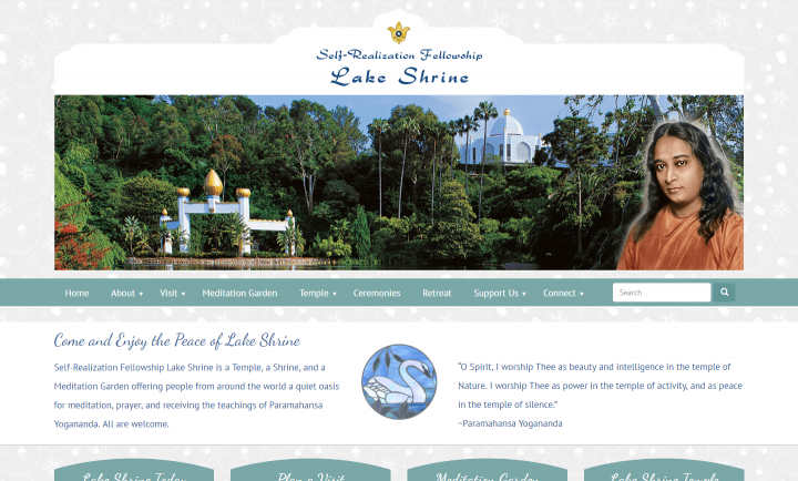 Self-Realization Fellowship Lake Shrine - WordPress Website Design and Development