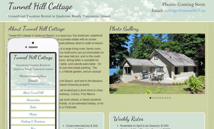 Tunnel Hill Cottage - Responsive Web Design and Development
