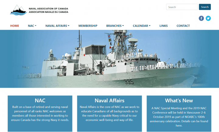 Website Re-design for Naval Association of Canada
