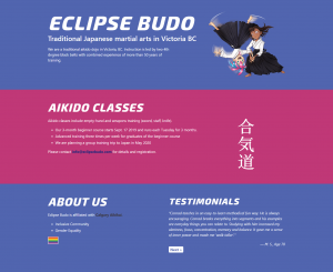 Single Page WordPress Theme for EclipseBudo.com